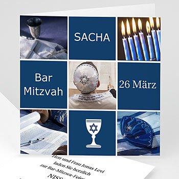 Bar Mitzwah Einladung - Bar Mitzvah Sacha - 1