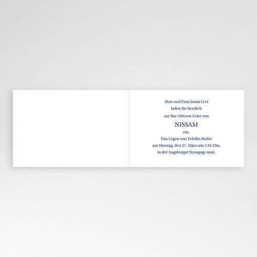 Bar Mitzwah Einladung - Blauton 3485 preview