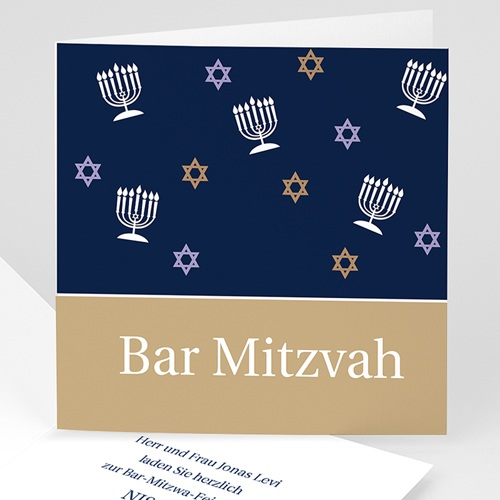 Einladungskarten Bar Mitzwah Samuel