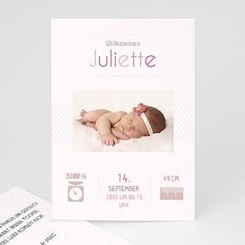 Geburtskarten für Mädchen - Rose chic - 1