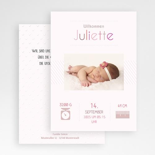 Geburtskarten für Mädchen - Rose chic 35048 test