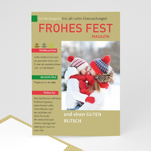 Weihnachtskarten Zeitung