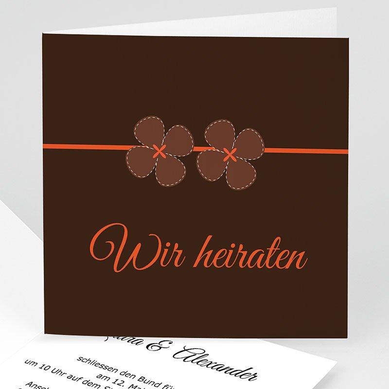 Orange Hochzeitseinladungen Josephine
