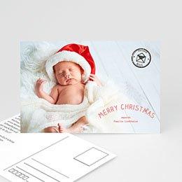 Neujahr Weihnachten Postkarte