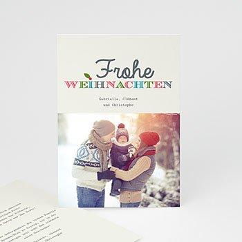 Weihnachtskarten - Typo - 1