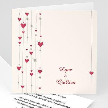 Einladungskarten Hochzeit  - Hochzeitskarte Paris - 1