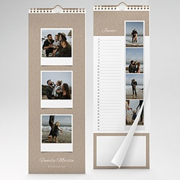 Kalender Loisirs Kraftpapieroptik