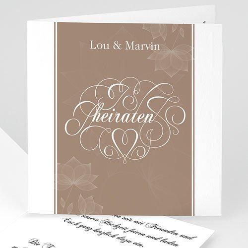 Hochzeitseinladungen modern - Vergoldet 3528