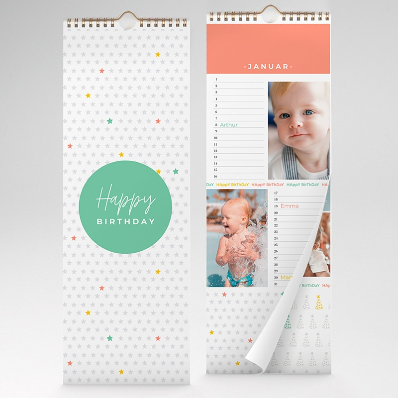 Ewiger Kalender Happy Birthday