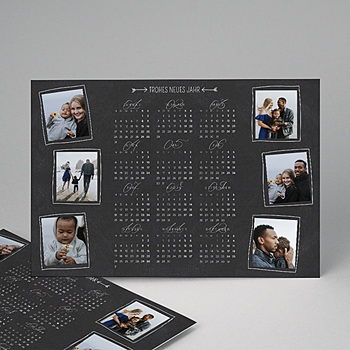 Kalender Jahresplaner - Tafelkreidedesign - 1