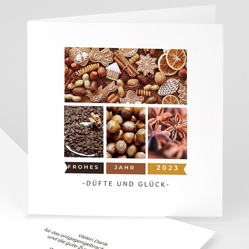 Geschäftliche Weihnachtskarten Weihnachtsduft