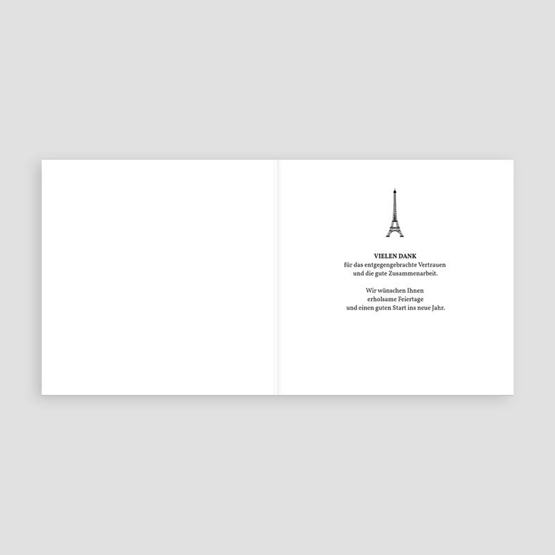 Geschäftliche Weihnachtskarten Paris Craft pas cher