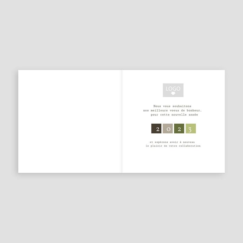 Geschäftliche Weihnachtskarten Charme Natur pas cher