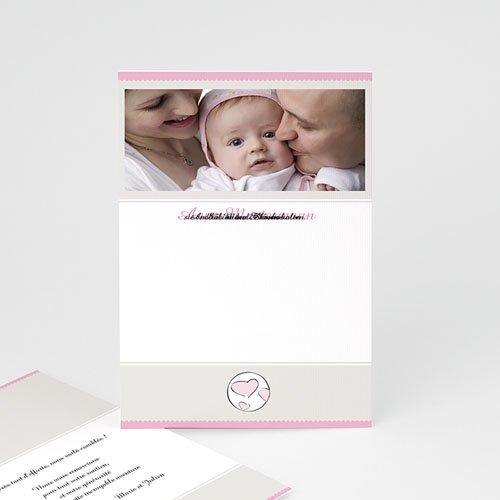 Adoptionskarten für Mädchen Zartrosa und grau