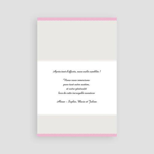 Adoptionskarten für Mädchen Zartrosa und grau pas cher