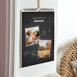 Kalender Loisirs Schiefertafel Foto
