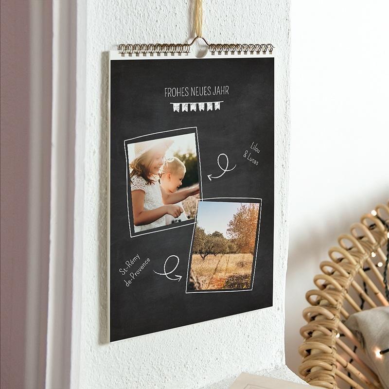 Wandkalender Schiefertafel Foto