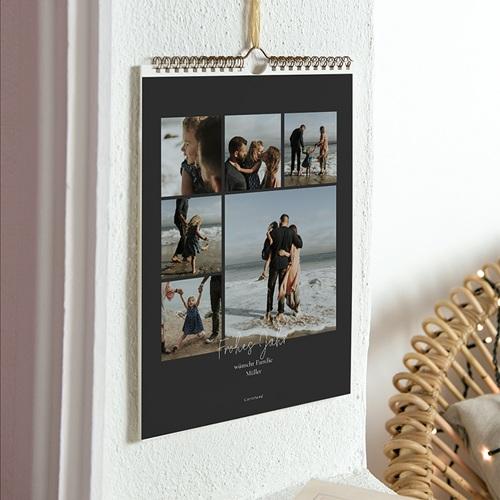 Wandkalender 2018 - Anthrazit 35719