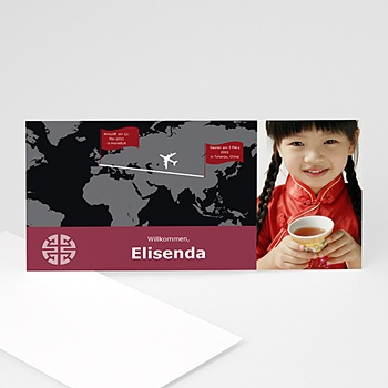 Adoptionskarten für Mädchen - von China nach Europa - 1