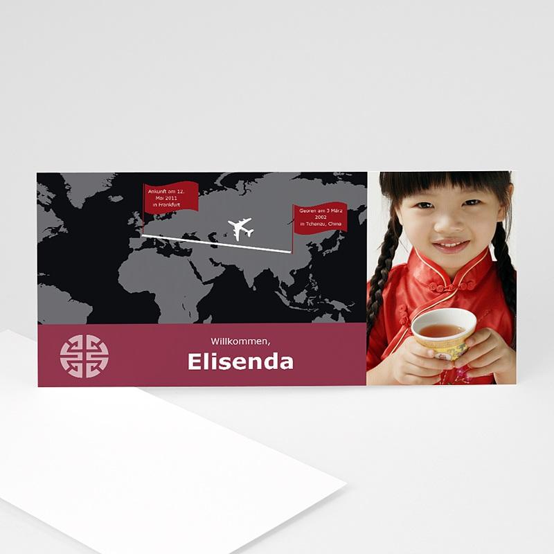 Adoptionskarten für Mädchen von China nach Europa