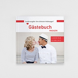 Fotobuch Quadratisch 20 x 20 cm - Gästebuch Rot - 1