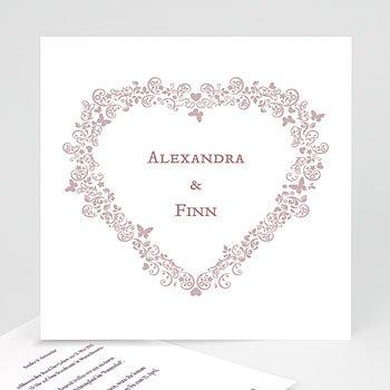 Einlegekarte individuell - Hochzeitskarte Herz - 1