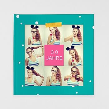 Fotobücher Quadratisch 30 x 30 cm - Geburtstag Flashy - 1