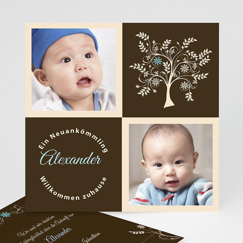 Adoptionskarten für Jungen Blau