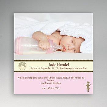 Adoptionskarten für Mädchen - Adoption - Rosa - 1
