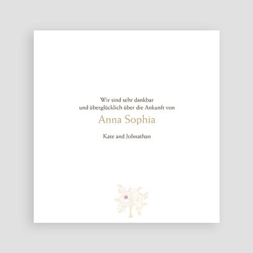 Adoptionskarten für Mädchen Braun baum pas cher