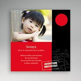 Adoptionskarten für Mädchen - Adoption Asien - 1