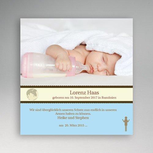 Adoptionskarten für Jungen - Blauton 3616
