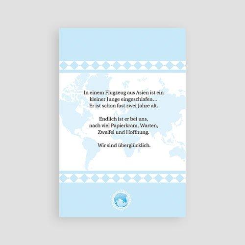 Adoptionskarten für Jungen - Liebe ohne Grenzen blau 3625 preview
