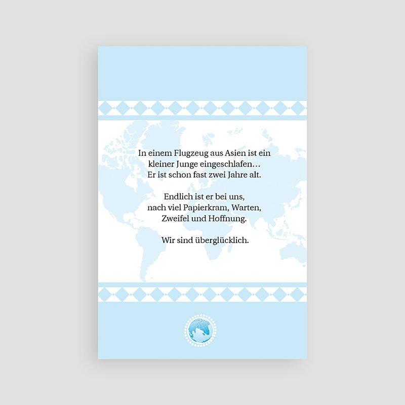 Adoptionskarten für Jungen - Liebe ohne Grenzen blau 3625 thumb