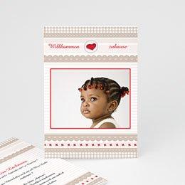 Adoptionskarten für Mädchen - Adoption Pastell - 1