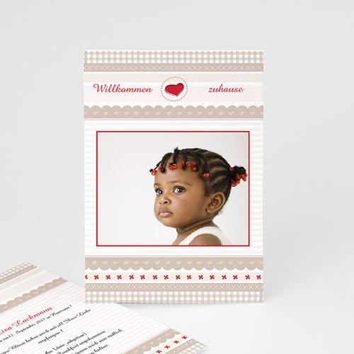 Adoptionskarten für Mädchen Pastell