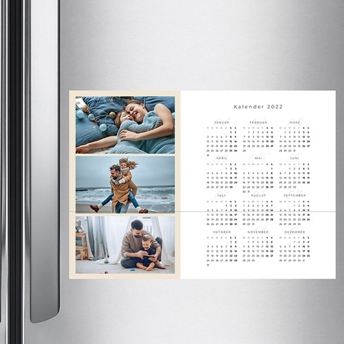 Jahresplaner - Drei Fotos - beige 36439 thumb