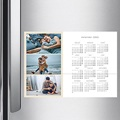 Kalender Jahresplaner Drei Fotos - beige pas cher