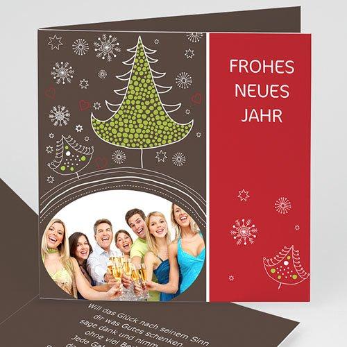 Weihnachtskarten - Tannen 3644 test