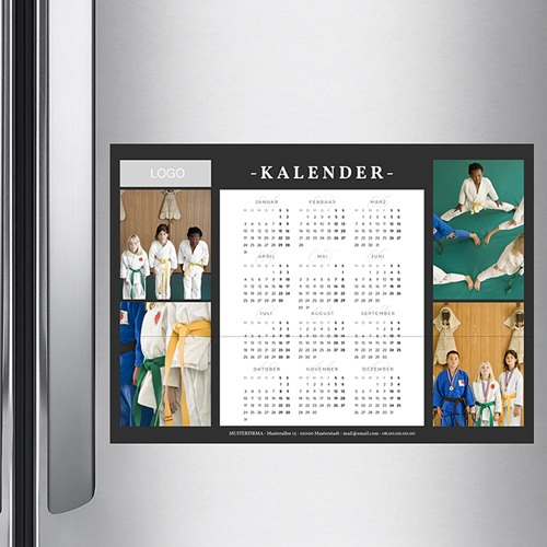 Fotokalender Pro schwarz pas cher