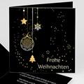 Weihnachtskarten - Weihnachtgrüsse in Gold 3652 test