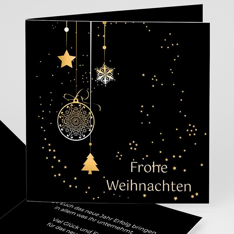 Geschäftliche Weihnachtskarten Weihnachtgrüsse in Gold