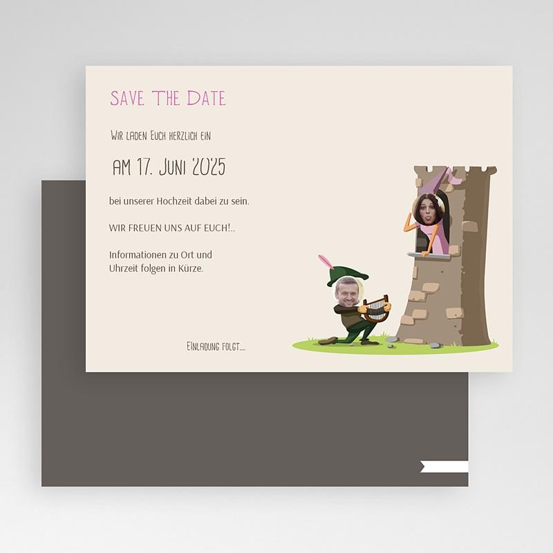 Save The Date Karten Hochzeit Mittelalter gratuit
