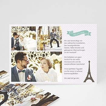 Danksagungskarten Hochzeit  - Paris Eifelturm - 0