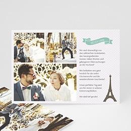 Danksagungskarten Hochzeit  Paris Eifelturm