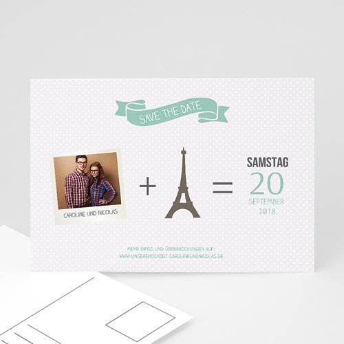 Save The Date Karten Hochzeit Paris Eifelturm