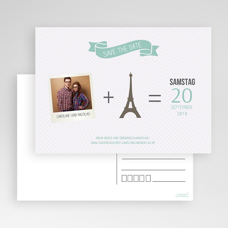 Save The Date Karten Hochzeit Paris Eifelturm gratuit