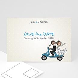 Save the date Hochzeit Vespa