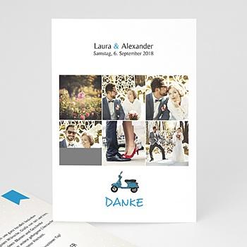 Danksagungskarten Hochzeit  - Vespa - 0