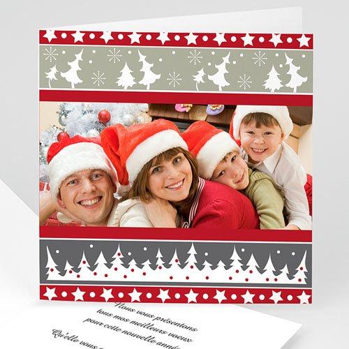 Weihnachtskarten - Karte Rot und Grau 3660